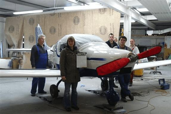 Werft der Flugzeuginstandhaltung Fläming Air in Berlin-Brandenburg