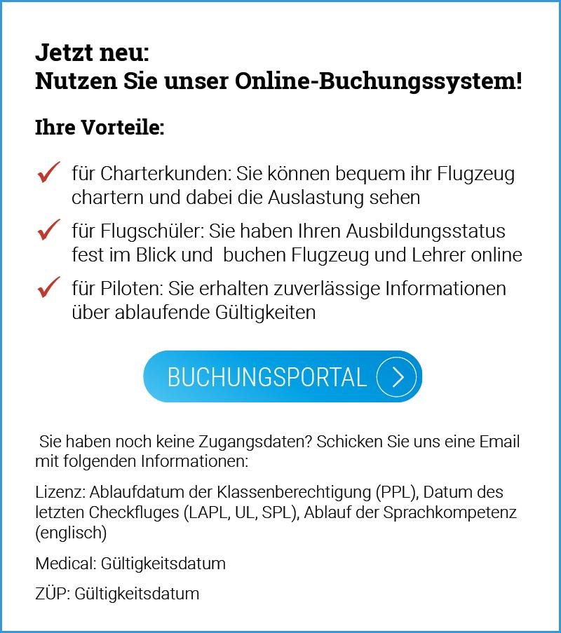 Online-Buchungssystem für die Flugschule Fläming Air
